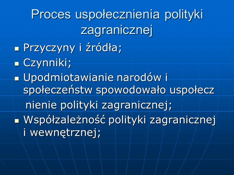 Proces uspołecznienia polityki zagranicznej