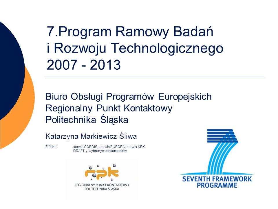 7.Program Ramowy Badań i Rozwoju Technologicznego 2007 - 2013