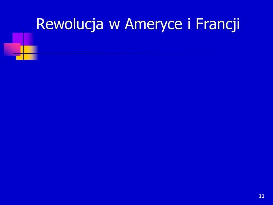 Rewolucja w Ameryce i Francji