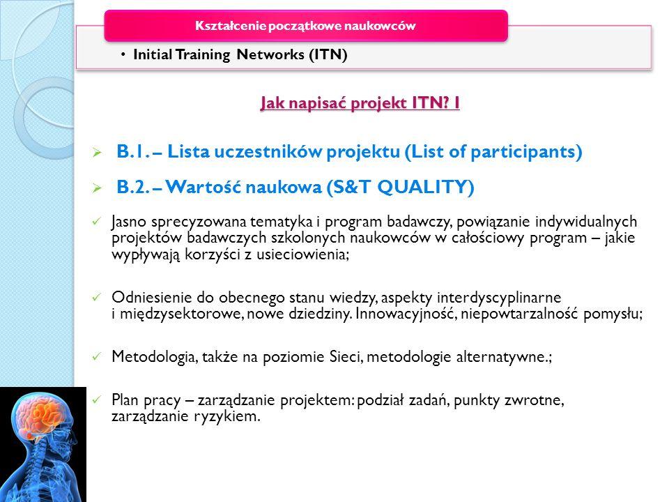 Jak napisać projekt ITN I