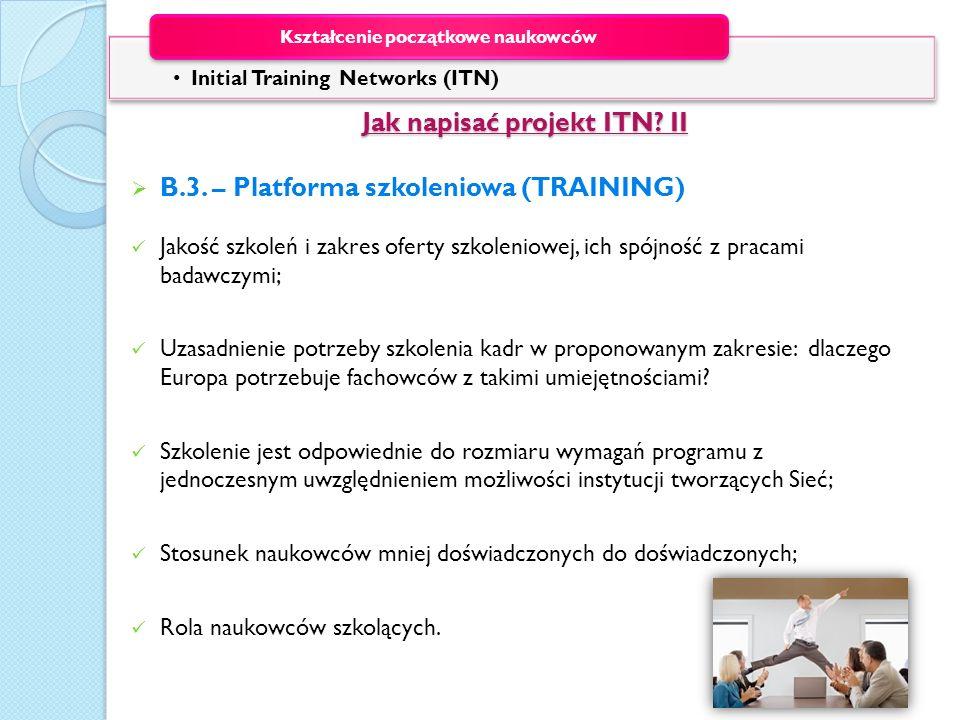 Jak napisać projekt ITN II