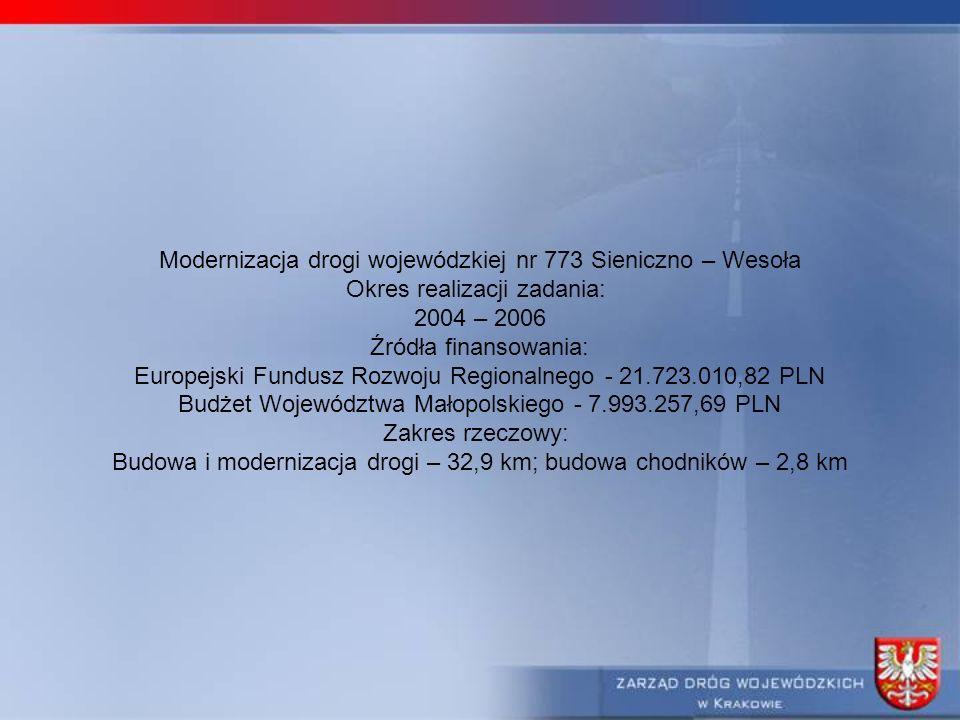 Modernizacja drogi wojewódzkiej nr 773 Sieniczno – Wesoła