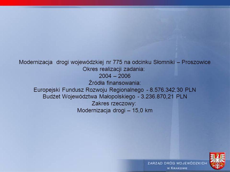 Okres realizacji zadania: 2004 – 2006 Źródła finansowania: