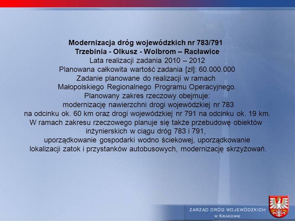 Modernizacja dróg wojewódzkich nr 783/791