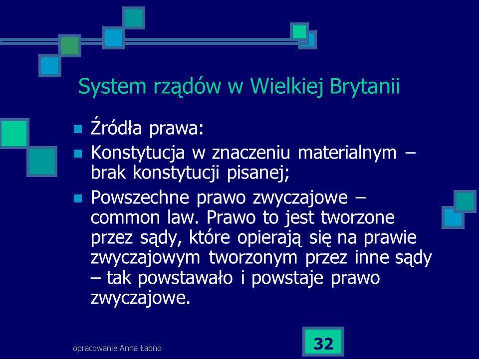 System rządów w Wielkiej Brytanii