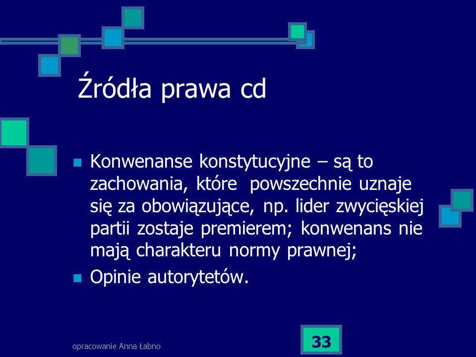 Źródła prawa cd