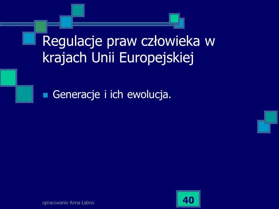 Regulacje praw człowieka w krajach Unii Europejskiej