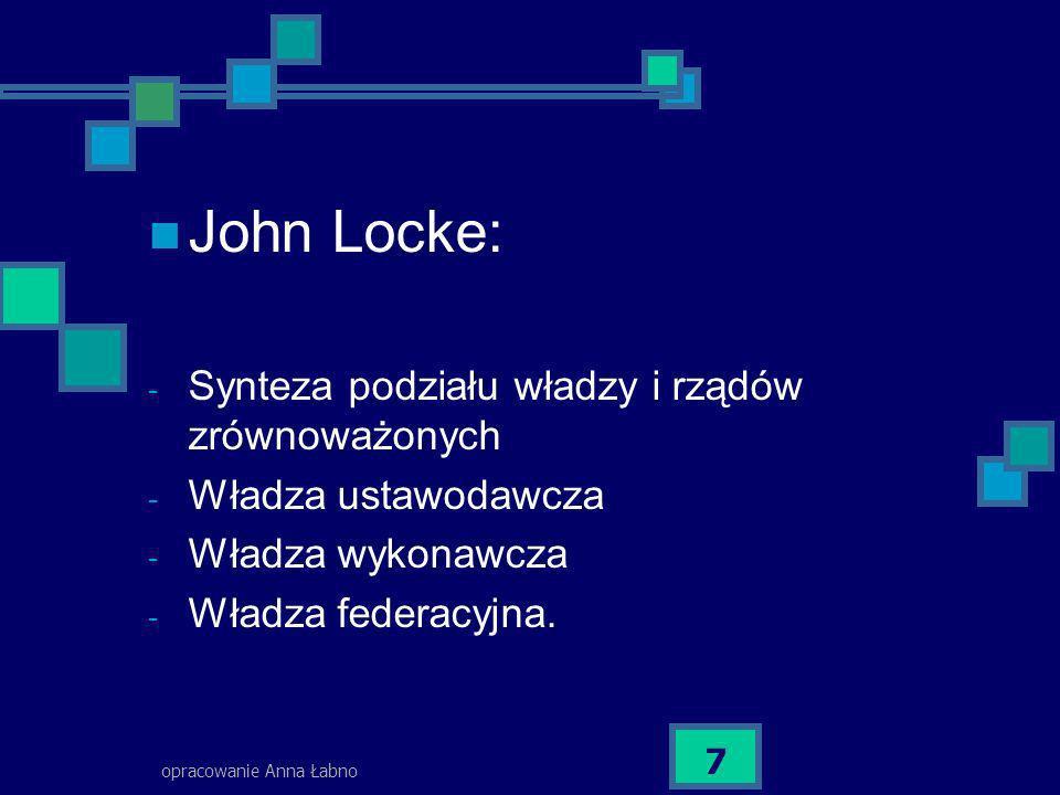 John Locke: Synteza podziału władzy i rządów zrównoważonych
