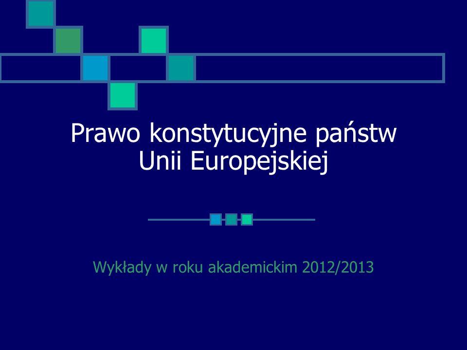 Prawo konstytucyjne państw Unii Europejskiej