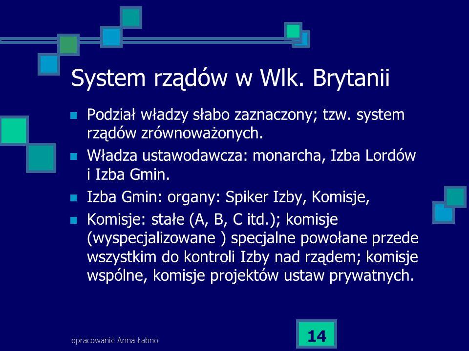 System rządów w Wlk. Brytanii
