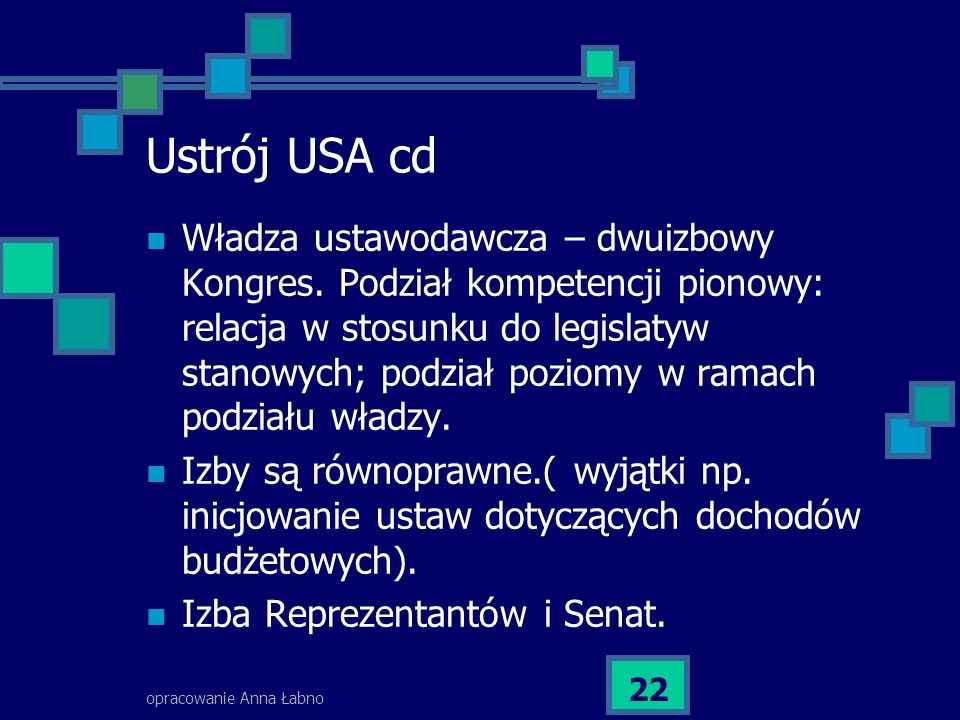 Ustrój USA cd