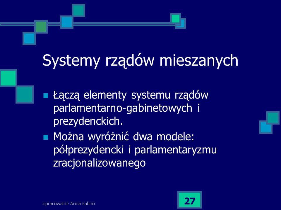Systemy rządów mieszanych