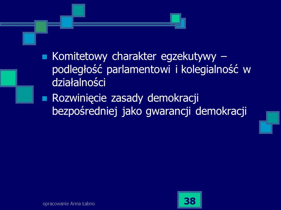 Rozwinięcie zasady demokracji bezpośredniej jako gwarancji demokracji