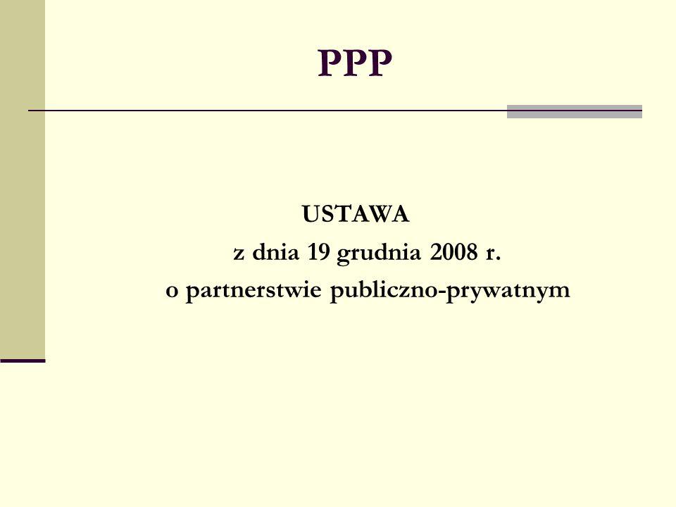 o partnerstwie publiczno-prywatnym