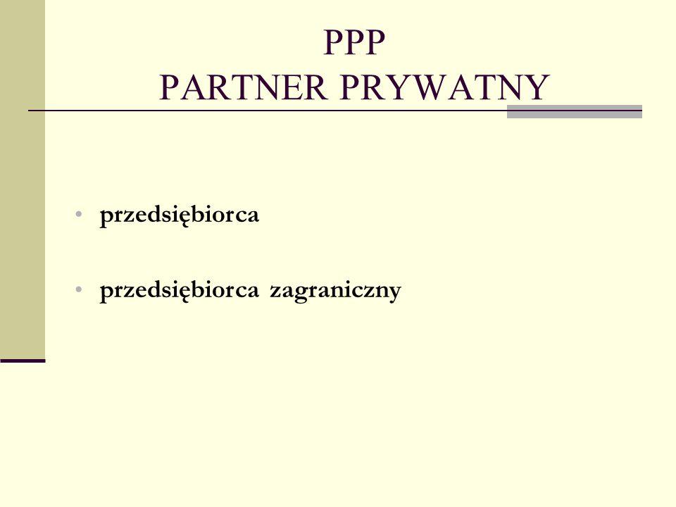 PPP PARTNER PRYWATNY przedsiębiorca przedsiębiorca zagraniczny