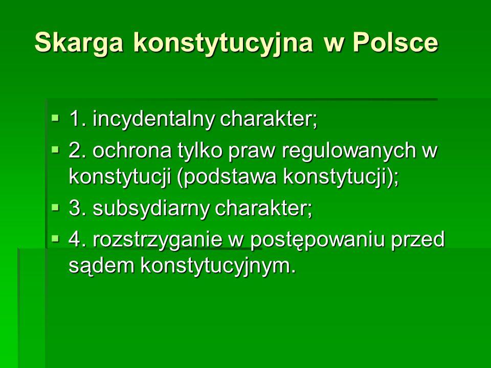 Skarga konstytucyjna w Polsce