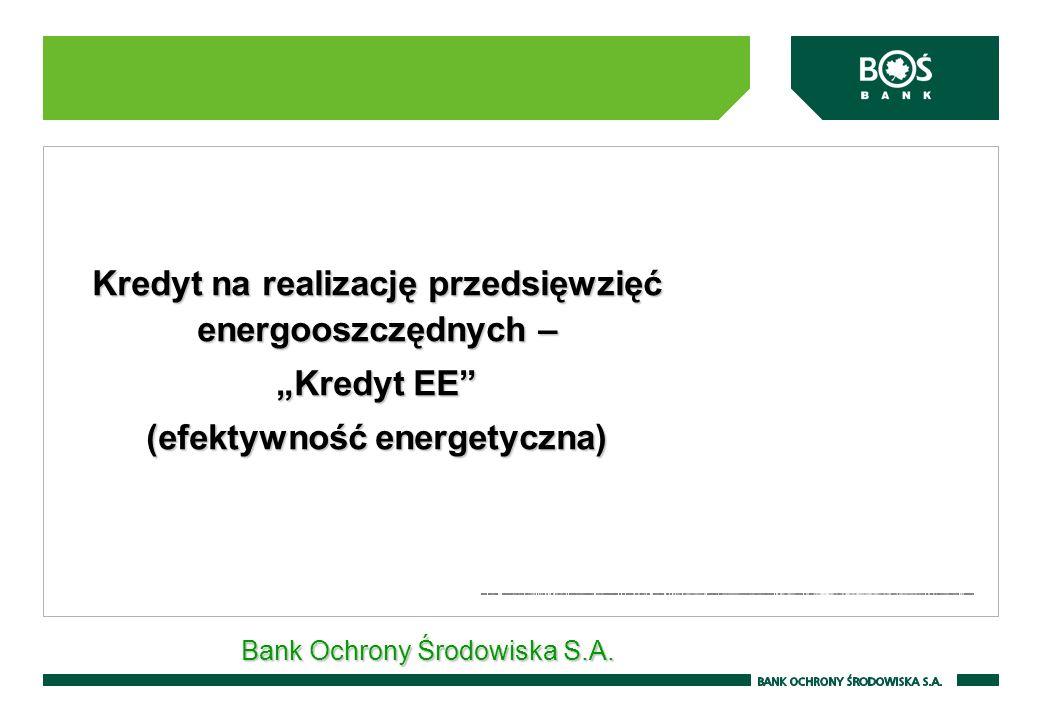 """Kredyt na realizację przedsięwzięć energooszczędnych – """"Kredyt EE"""