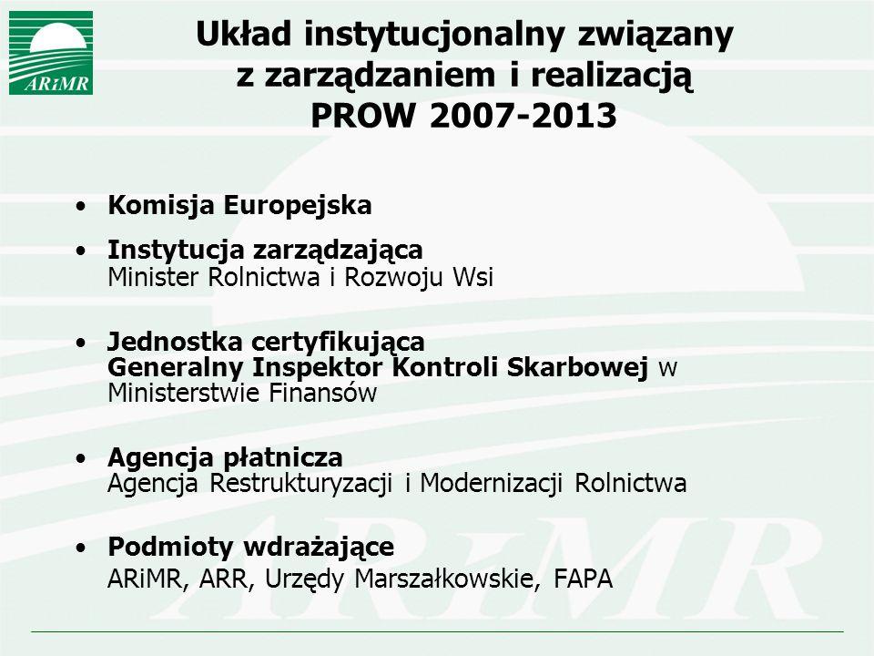 Układ instytucjonalny związany z zarządzaniem i realizacją PROW 2007-2013