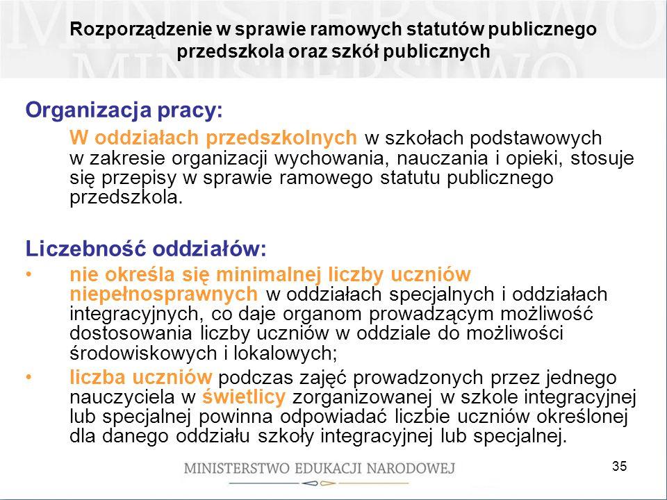 Liczebność oddziałów: