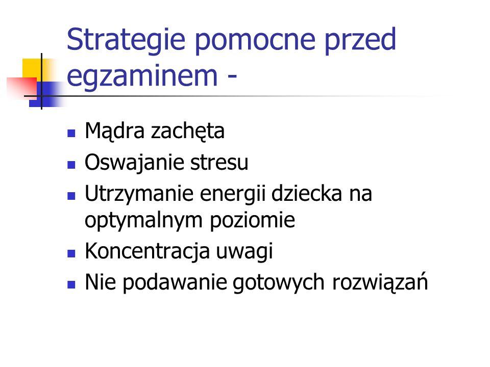 Strategie pomocne przed egzaminem -