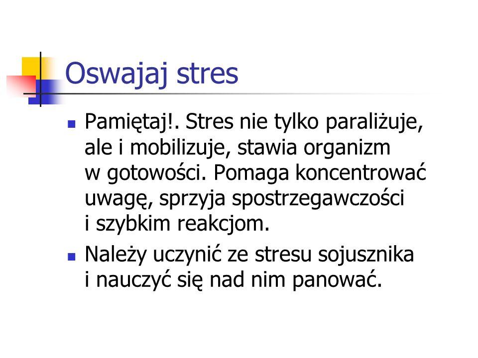 Oswajaj stres