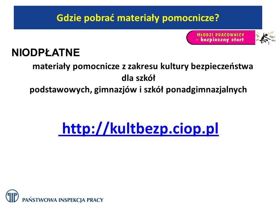 http://kultbezp.ciop.pl Gdzie pobrać materiały pomocnicze NIODPŁATNE