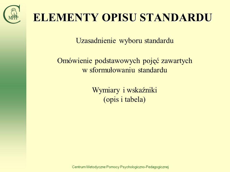 ELEMENTY OPISU STANDARDU