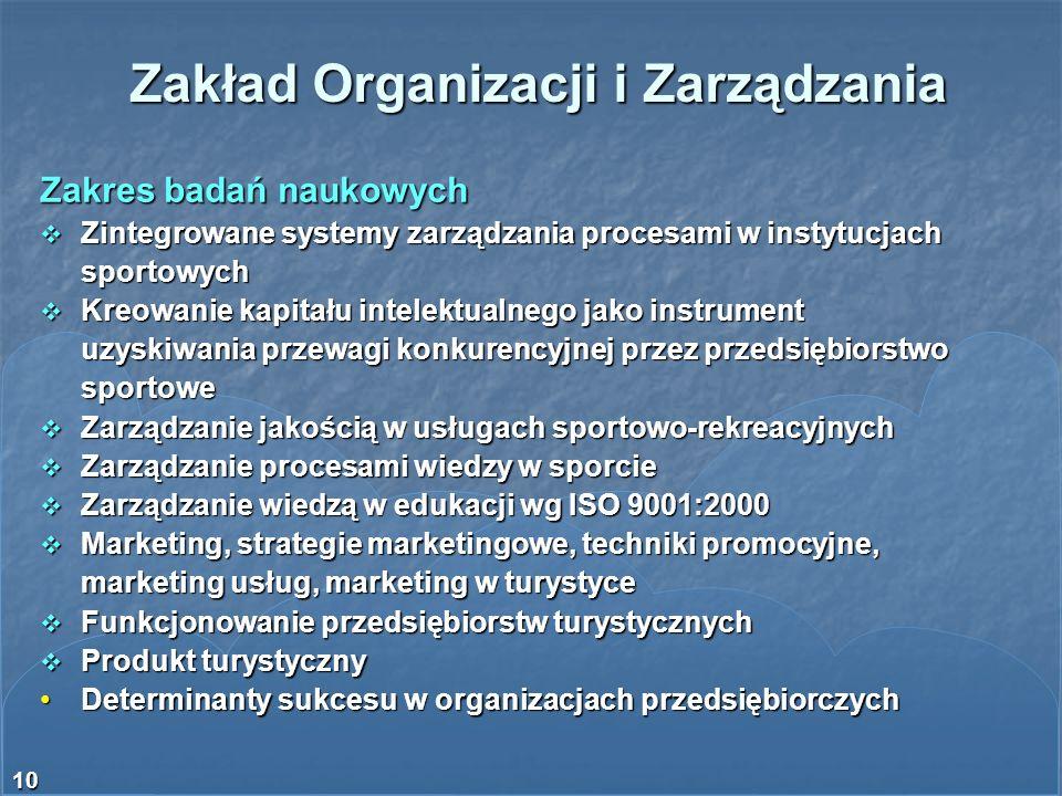 Zakład Organizacji i Zarządzania
