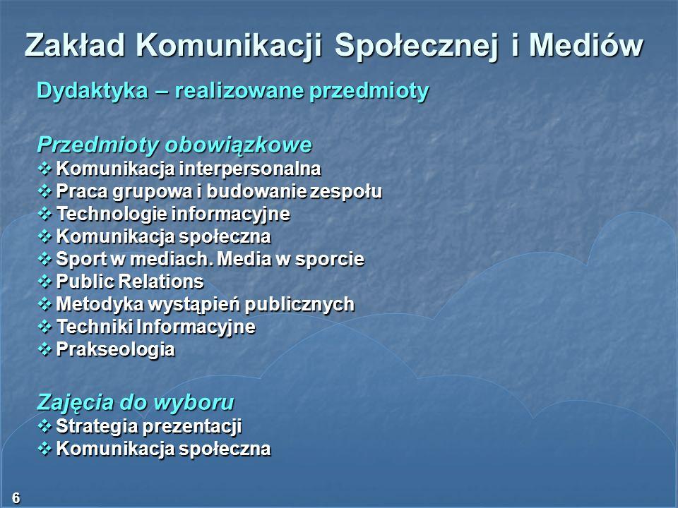 Zakład Komunikacji Społecznej i Mediów