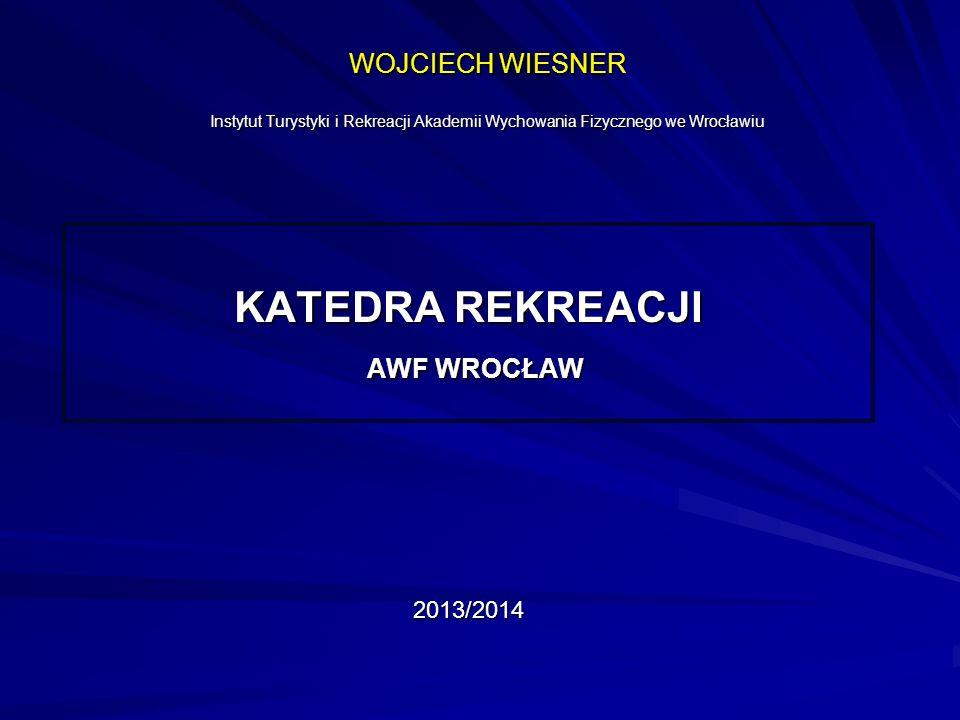 KATEDRA REKREACJI AWF WROCŁAW 2013/2014