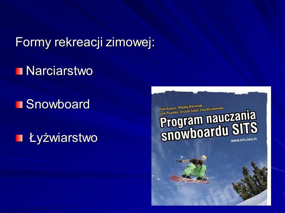 Formy rekreacji zimowej: