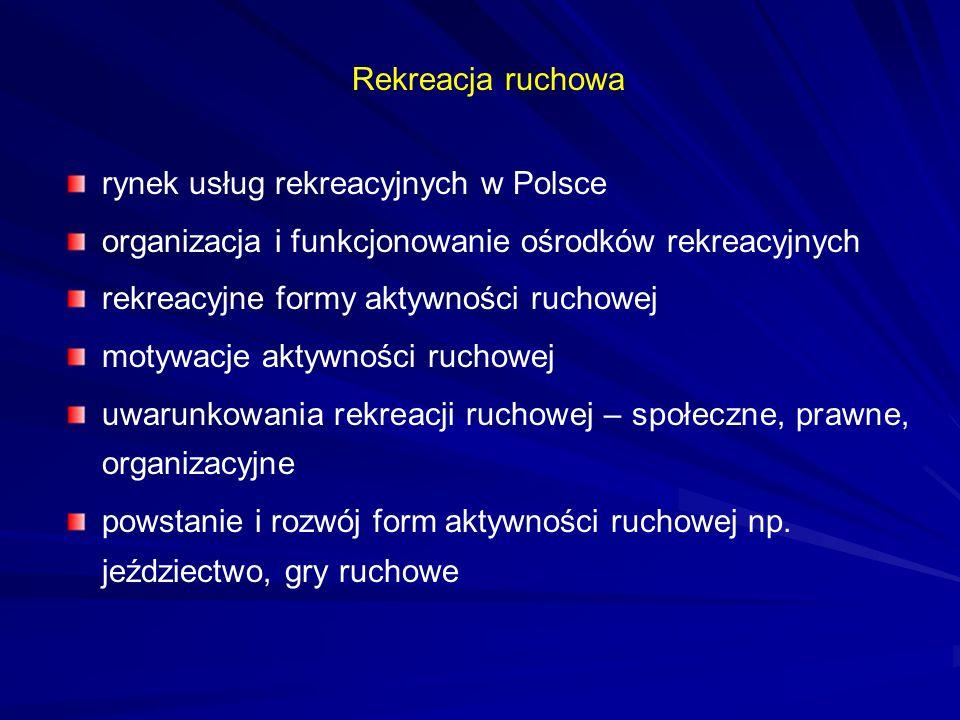 rynek usług rekreacyjnych w Polsce