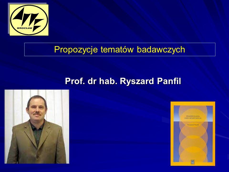 Prof. dr hab. Ryszard Panfil