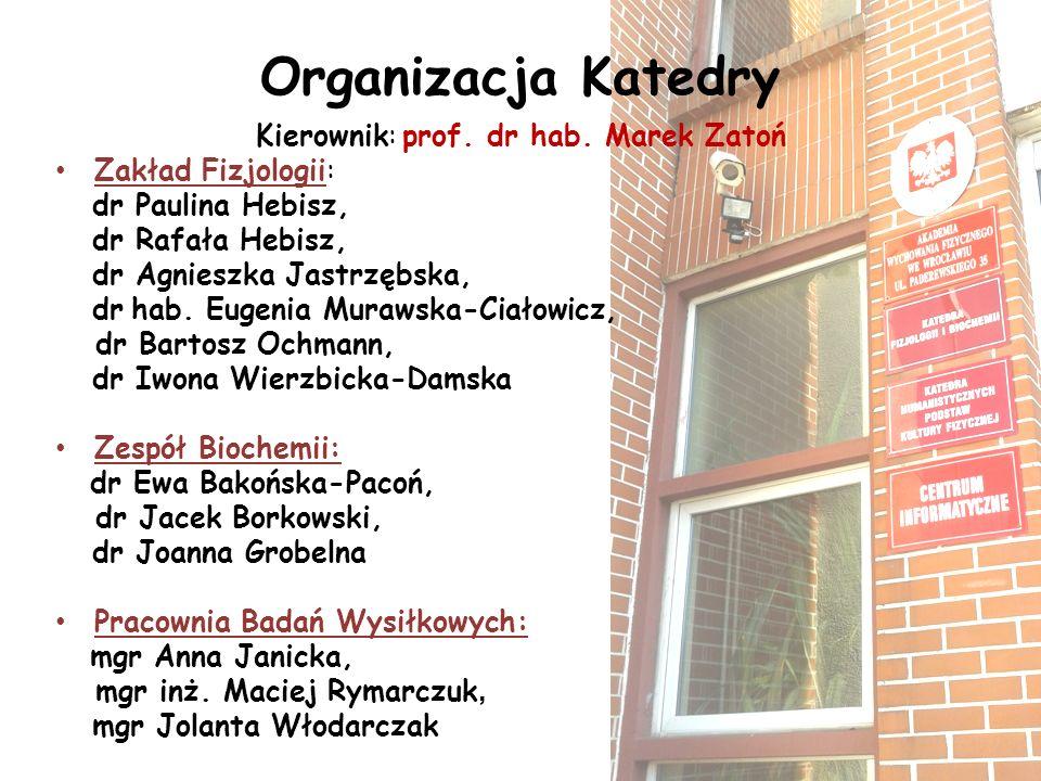 Kierownik: prof. dr hab. Marek Zatoń