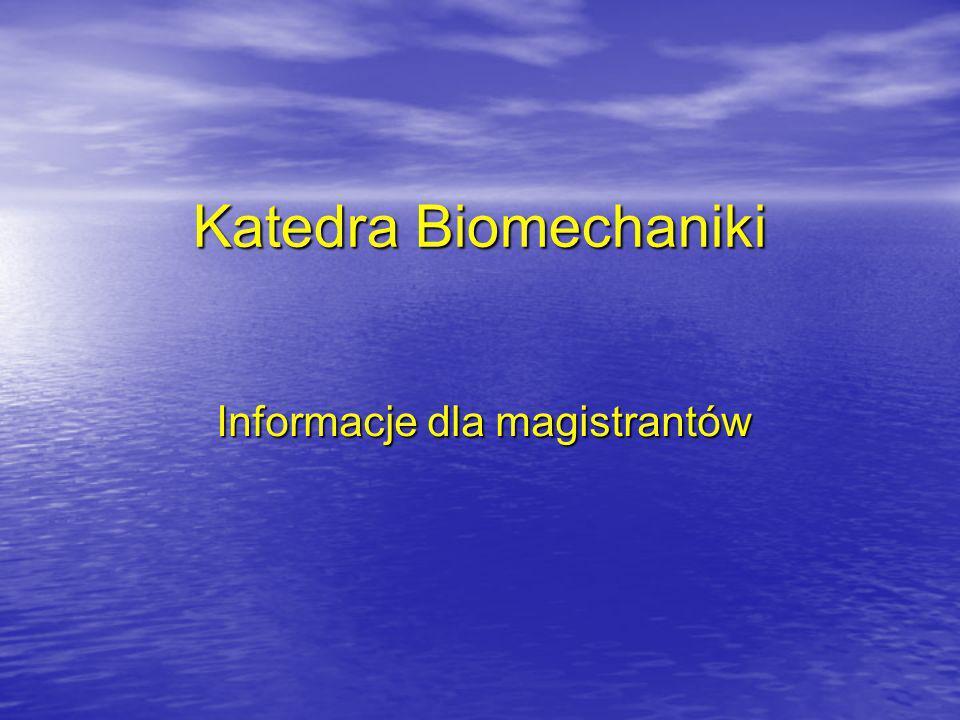 Informacje dla magistrantów