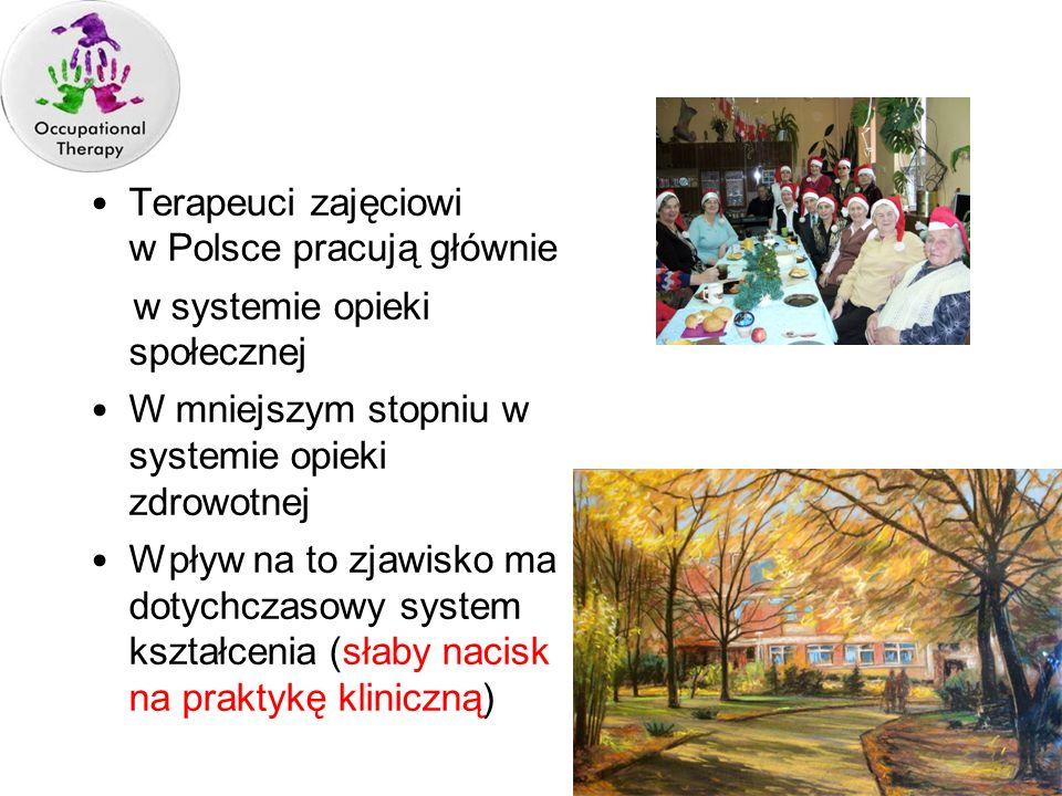 Terapeuci zajęciowi w Polsce pracują głównie