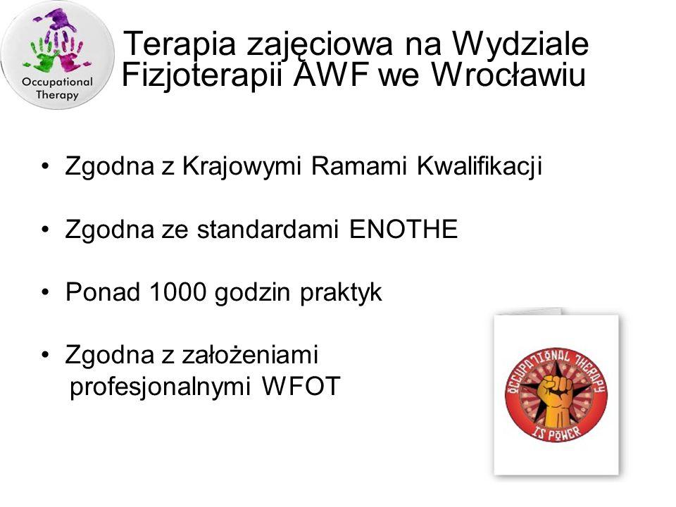 Terapia zajęciowa na Wydziale Fizjoterapii AWF we Wrocławiu