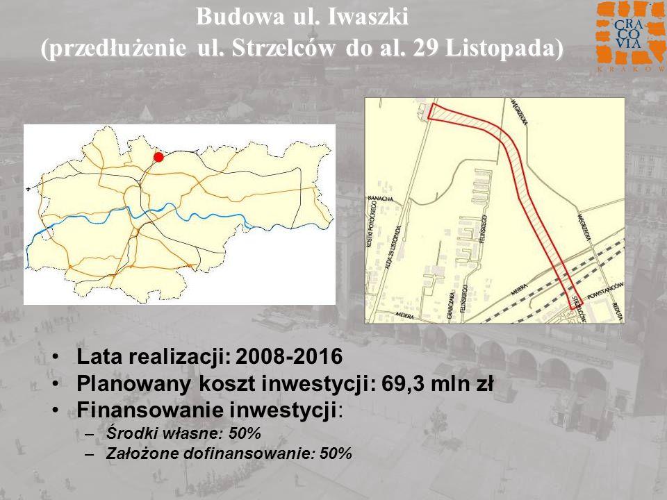 Budowa ul. Iwaszki (przedłużenie ul. Strzelców do al. 29 Listopada)