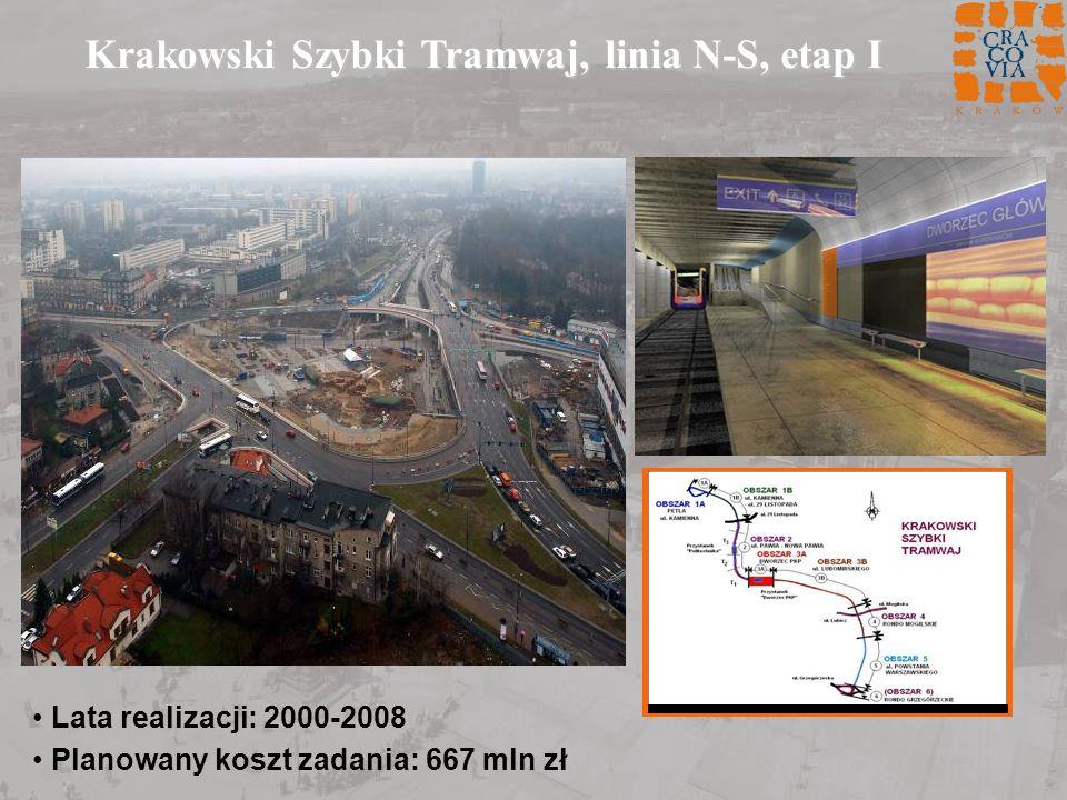 Krakowski Szybki Tramwaj, linia N-S, etap I