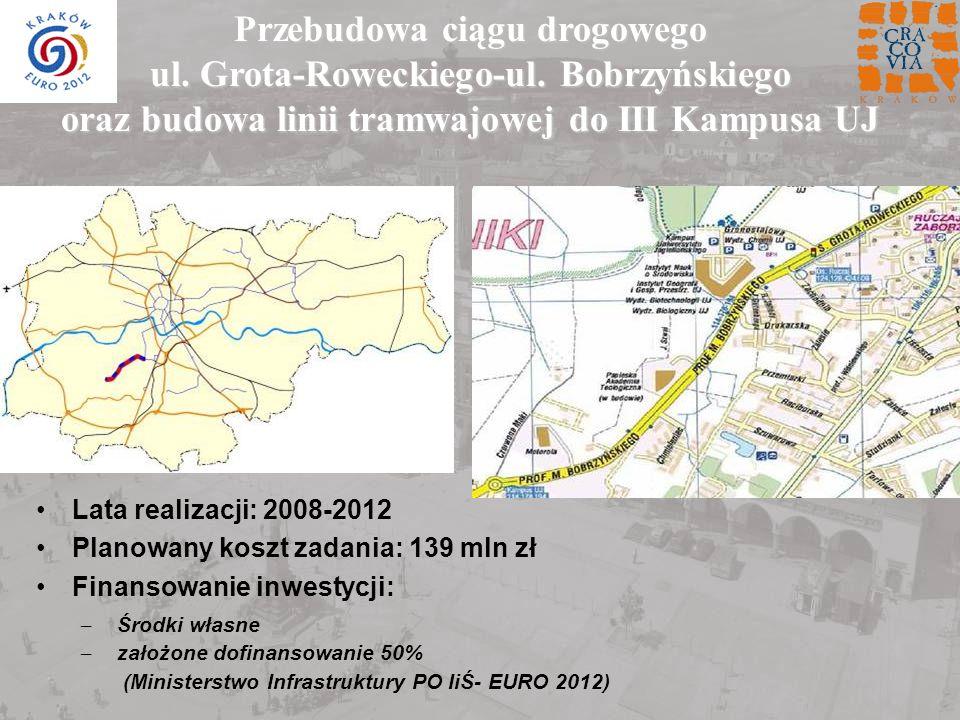 Przebudowa ciągu drogowego ul. Grota-Roweckiego-ul. Bobrzyńskiego