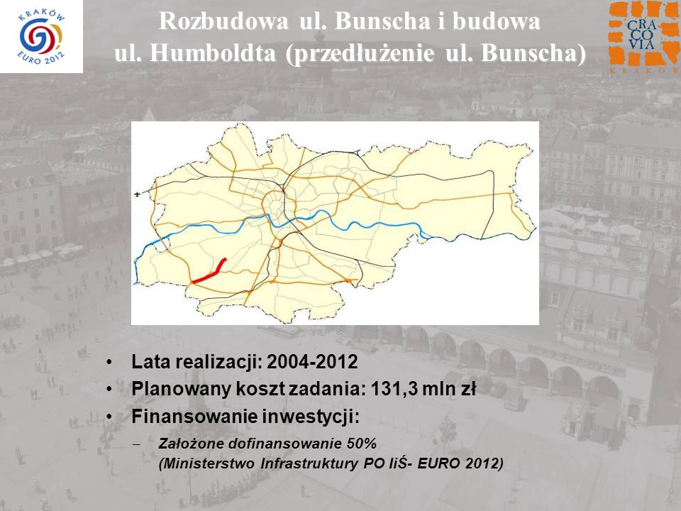 Rozbudowa ul. Bunscha i budowa