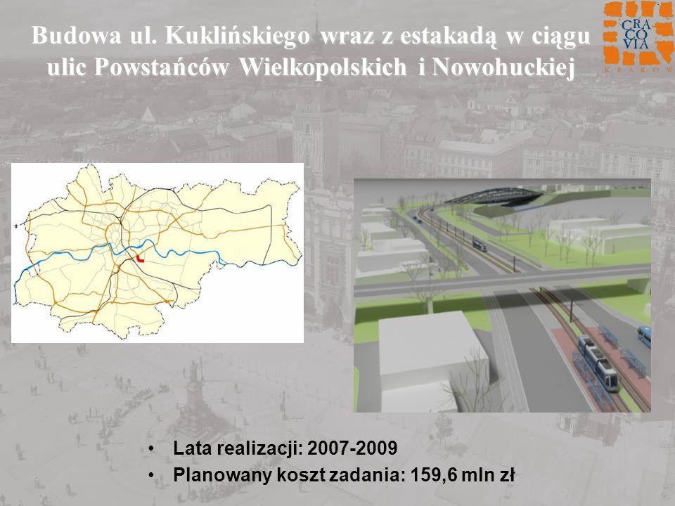 Budowa ul. Kuklińskiego wraz z estakadą w ciągu ulic Powstańców Wielkopolskich i Nowohuckiej