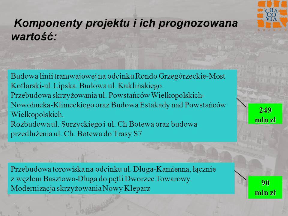 Komponenty projektu i ich prognozowana wartość: