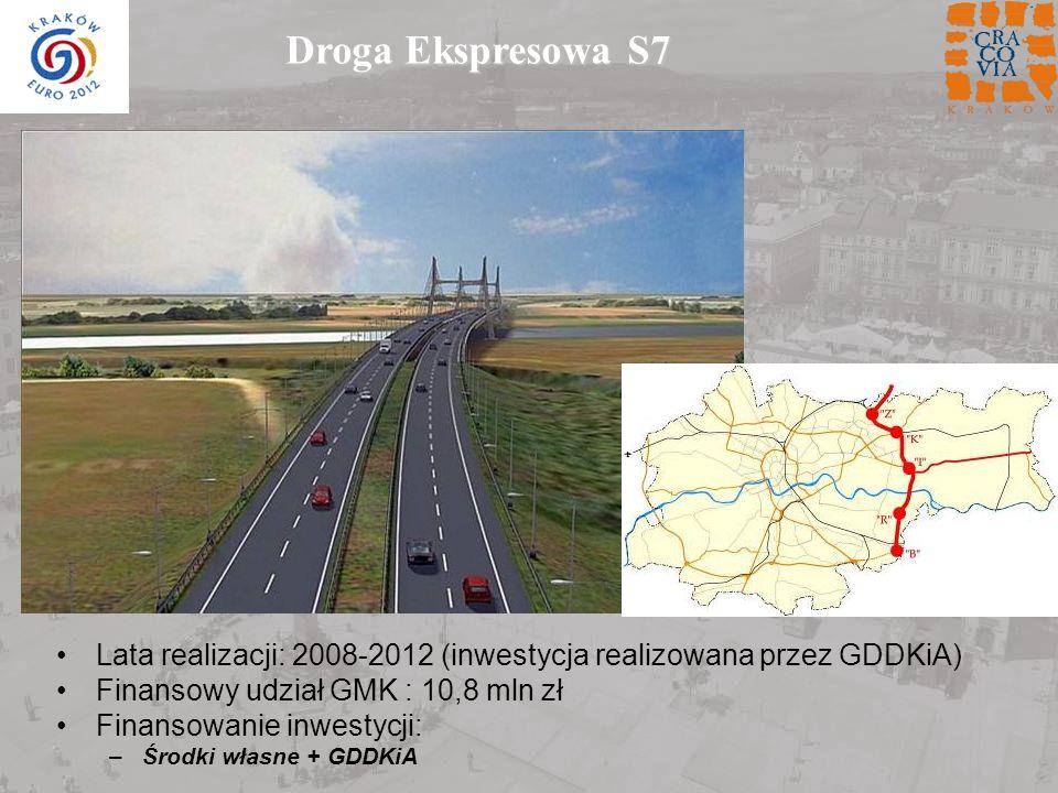 Droga Ekspresowa S7 Lata realizacji: 2008-2012 (inwestycja realizowana przez GDDKiA) Finansowy udział GMK : 10,8 mln zł.