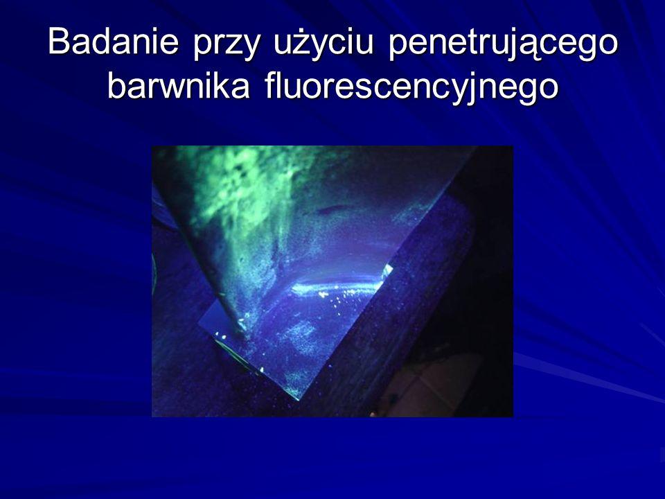 Badanie przy użyciu penetrującego barwnika fluorescencyjnego