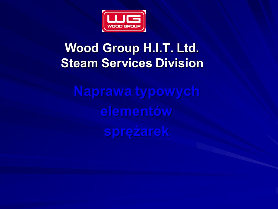 Wood Group H.I.T. Ltd. Steam Services Division