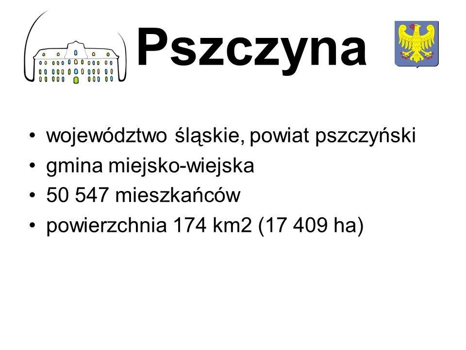 Pszczyna województwo śląskie, powiat pszczyński gmina miejsko-wiejska
