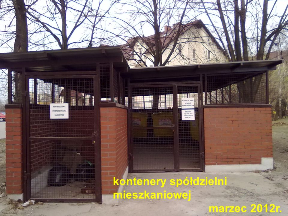 kontenery spółdzielni mieszkaniowej marzec 2012r.
