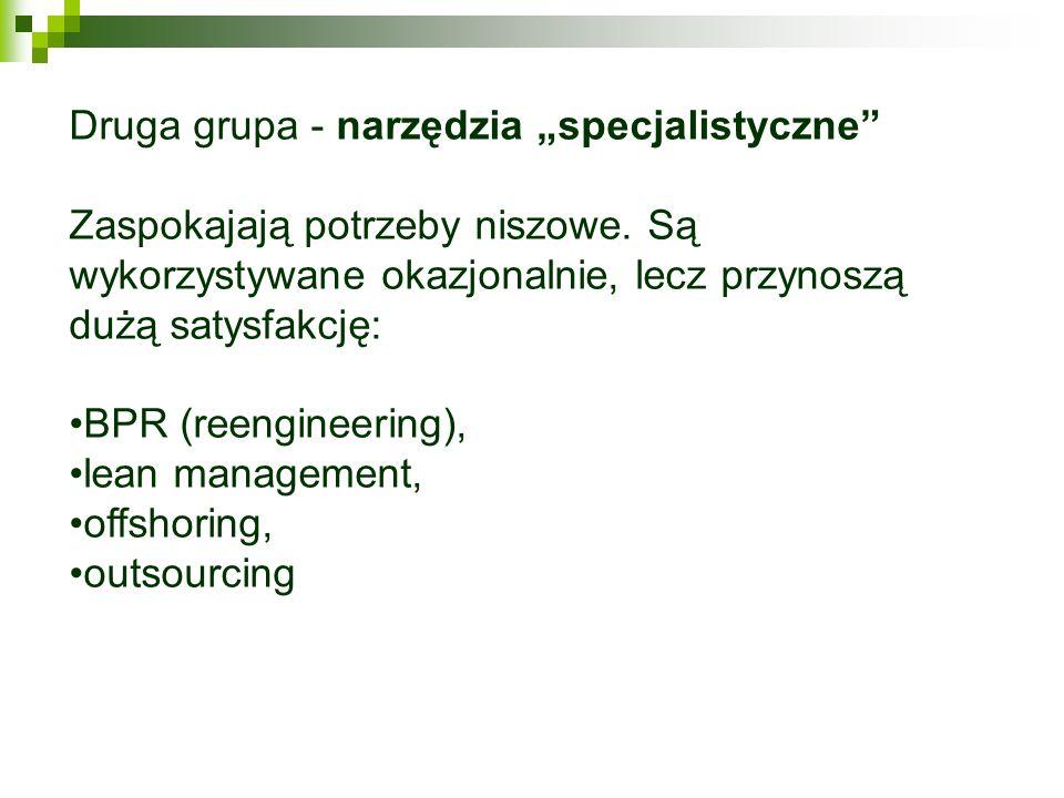 """Druga grupa - narzędzia """"specjalistyczne"""