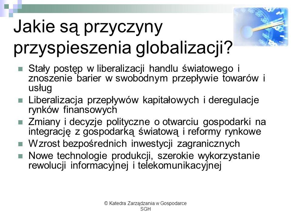 Jakie są przyczyny przyspieszenia globalizacji
